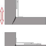 Схема установки углового маяка в зависимости от направления раскрытия трещины