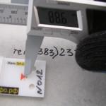 Измерение трещин электронным штангенциркулем при помощи маяков серии ЗИ