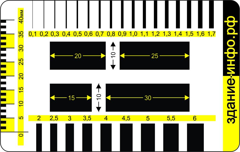 Изображение шаблона-линейки для скачивания