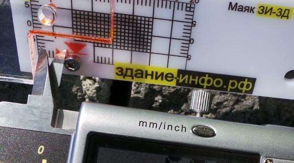 Маяк ЗИ-3д - точные наблюдения за трещиной по трем осям с использованием штангенциркуля