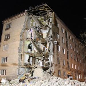 Обрушение здания в Тюмени на Харьковской 59а 24-03-2015