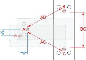 Маяк ЗИ-2.3 Схема расположения реперных точек