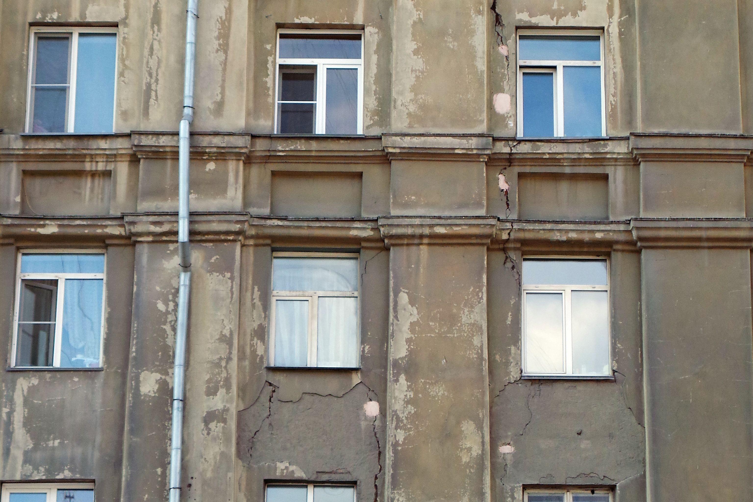 Трещины в жилых зданиях