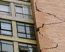 Землетрясение и трещины в зданиях
