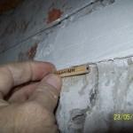 Наблюдение за трещинами при помощи гипсового маяка 4